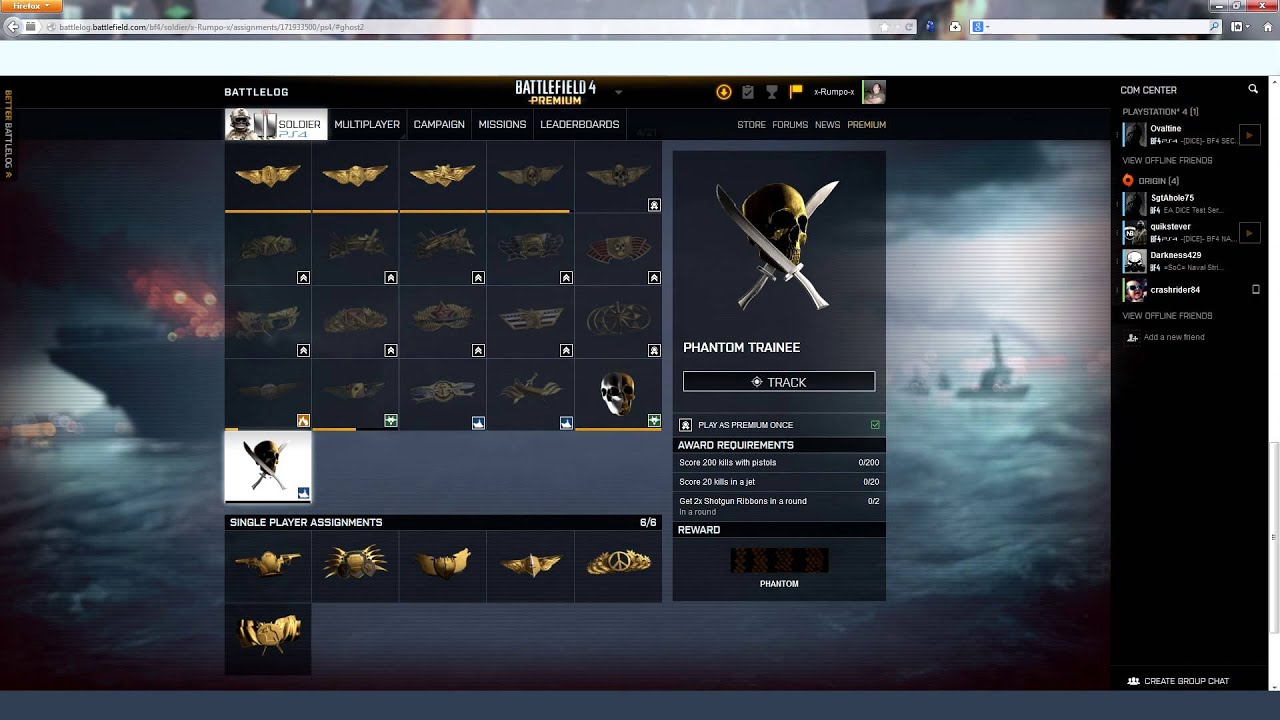 How to Unlock the Battlefield 4 Phantom Trainee Assignment