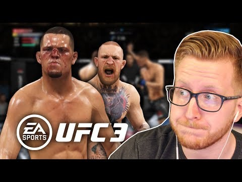 THIS GAME IS HARD!! McGregor vs Diaz - EA Sports UFC 3