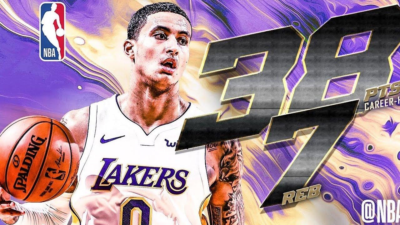 3dae12eead2 Kyle Kuzma 38 Points Career High! Lakers Snap Rockets Streak! 2017-18 Season
