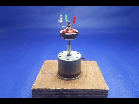 How to make free energy generator DC motor with light bulb || Experiment at home 2018