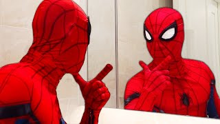 CLASSIC SPIDER-MAN In Real Life | Rounties Morning and Spider-Man's Problem | Comedy Funny Video