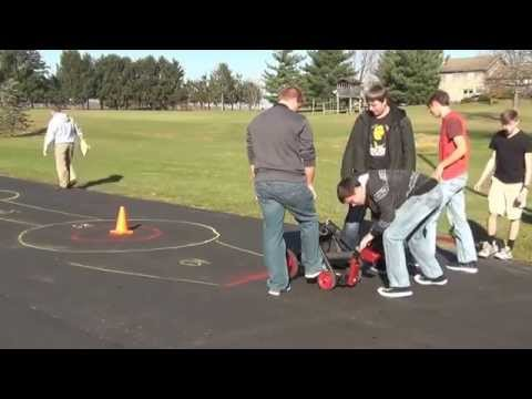 Minford High School Military History Class Catapult Launch