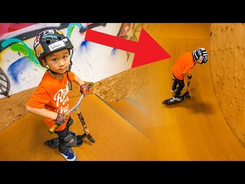5 YEAR OLD SCOOTER KID GOING PRO!!