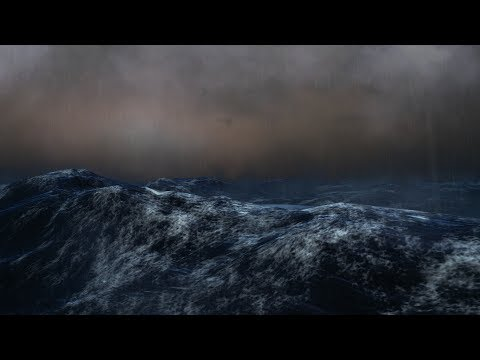⚡️ Thunderstorm And Rain Sounds Over The Ocean / Waves, Lightning, Rain & Thunder Sound For Sleeping