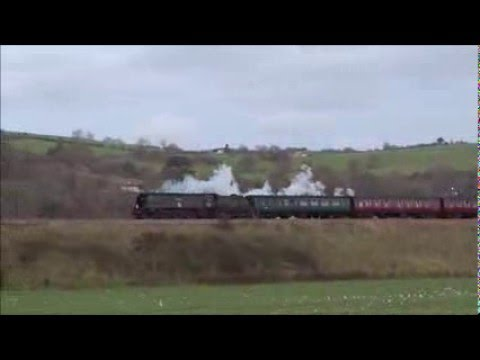 SR Light Pacific 4-6-2 no 34067 Tangmere at Newton St. Loe on 5th December 2015