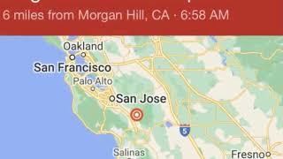 Earthquake   san francisco  bay area martin  santa clara county usgs  san jose morgan hill #earthquakebayarea #earthquake an struck nort...