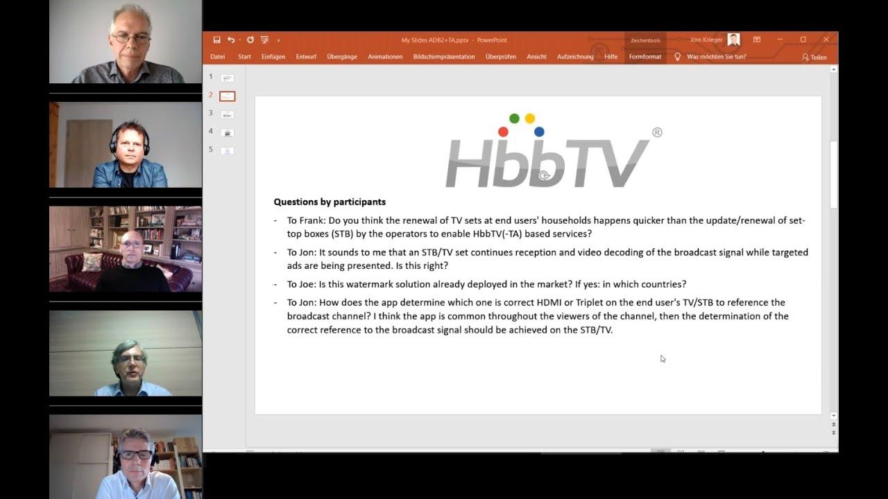Download HbbTV Webinar: Extending the Reach of HbbTV TA to Set-top Box Markets