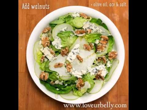 Pear, Walnut & Blue Cheese Salad By Loveurbelly