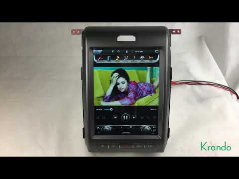 """Krando Android 6.0 32G ROM 12.1"""" Vertical screen car navigation gps multimedia for Ford F-150 F150"""