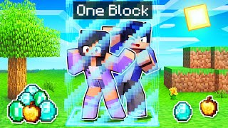Minecraft But We're LOCKED In ONE BLOCK!