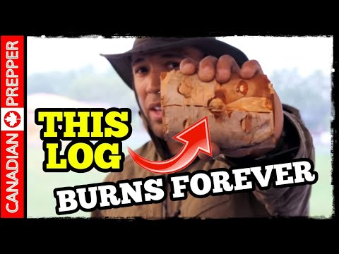 Mini Swedish Fire Torch: Tiny Log Burns Forever #lifehack