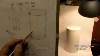 Обучение рисунку. Введение. 5 серия: рисуем цилиндр