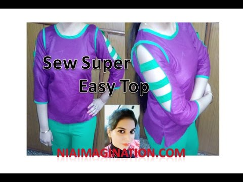 Sew easy top with designer hollow sleeves using bias pippin