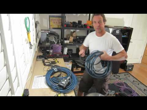 Testing AES3 maximum cable lengths down CAT5, Audio Snake and Mic Cables