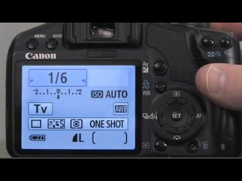 How to set the shutter priority setting on your Canon EOS Rebel XS / 1000D