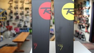 Rossignol Sin 7 and Soul 7 Comparison and Review
