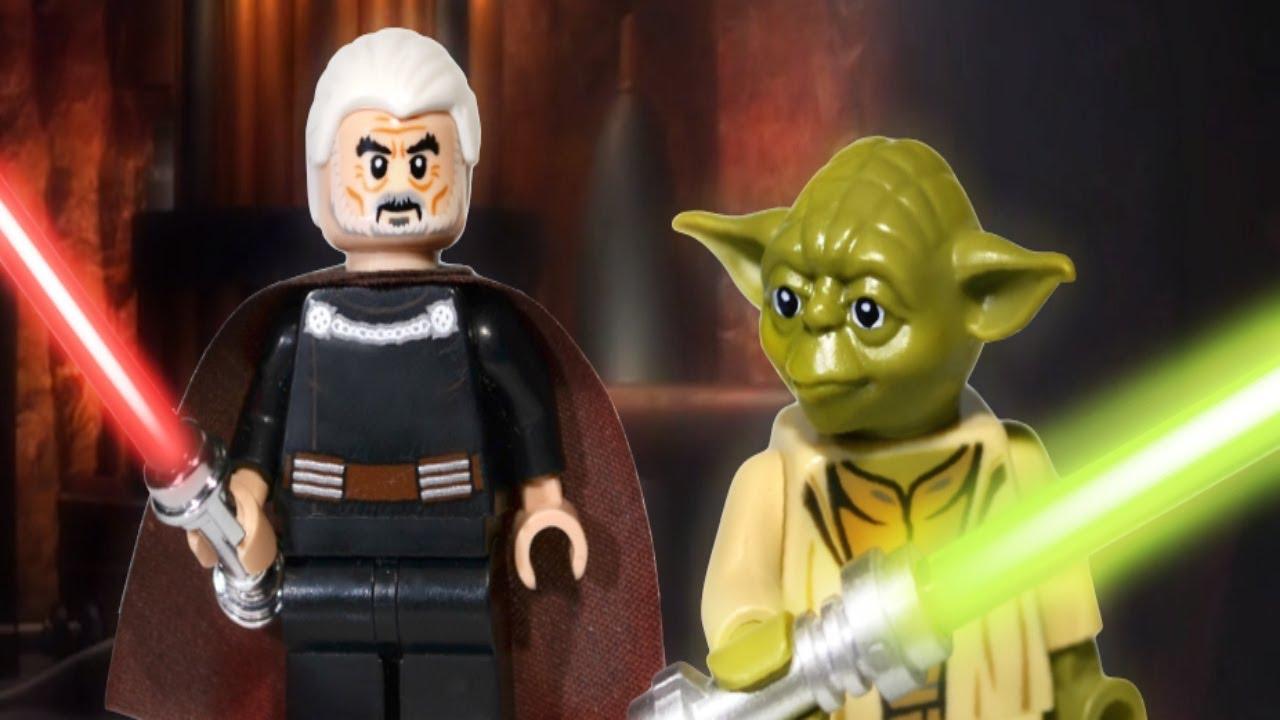 Star wars yoda vs count dooku