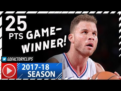 Blake Griffin Full Highlights vs Trail Blazers (2017.10.26) - 25 Pts, 8 Reb, GAME-WINNER