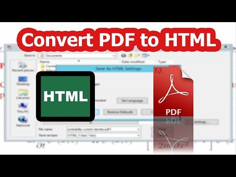 How To Export Or Convert PDF Files To HTML By Using Adobe Acrobat Pro 2017