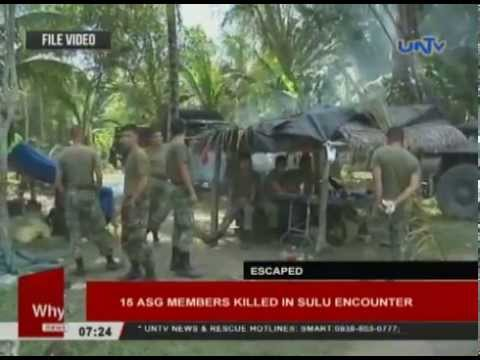 15 Abu Sayyaf members killed in Sulu encounter