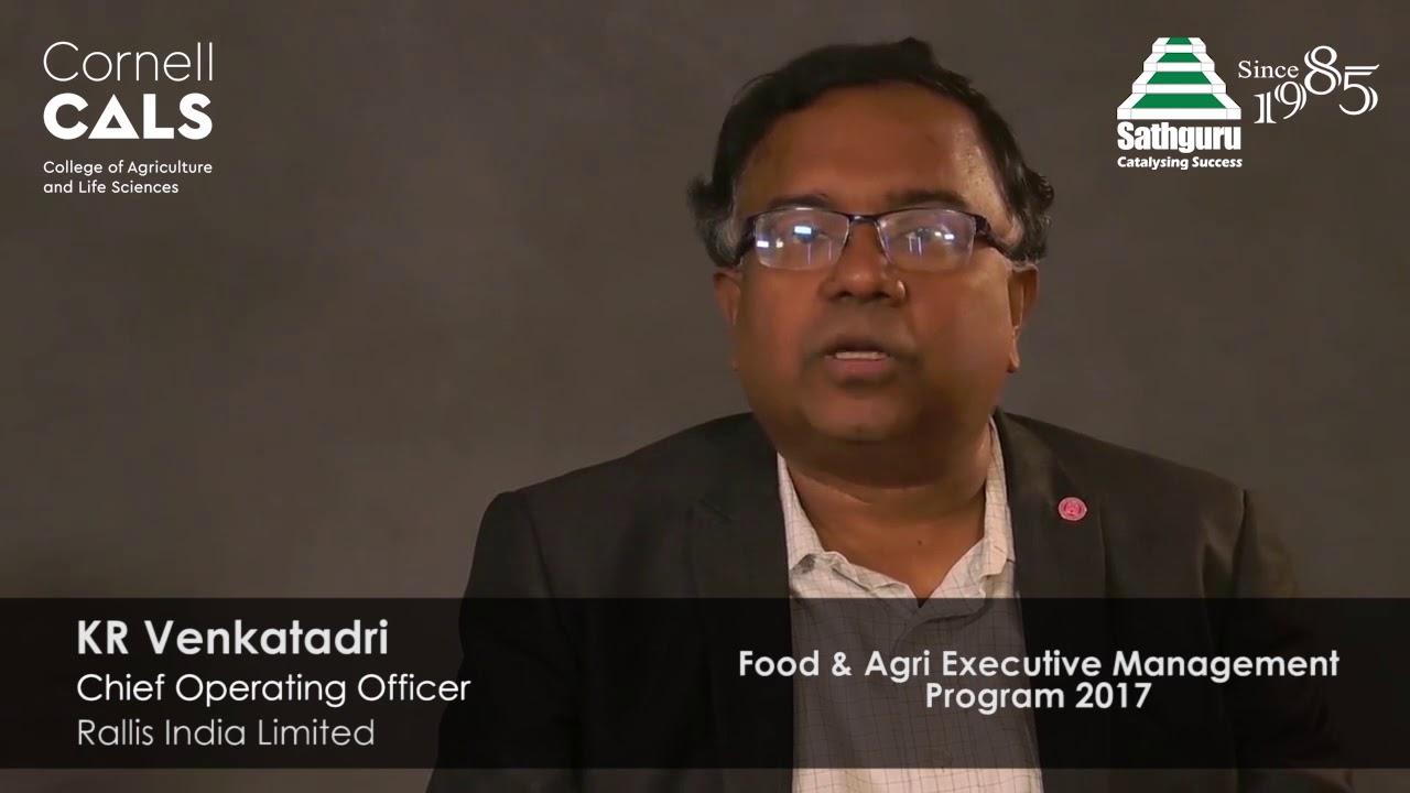 Food & Agri Executive Management Program | Cornell Sathguru