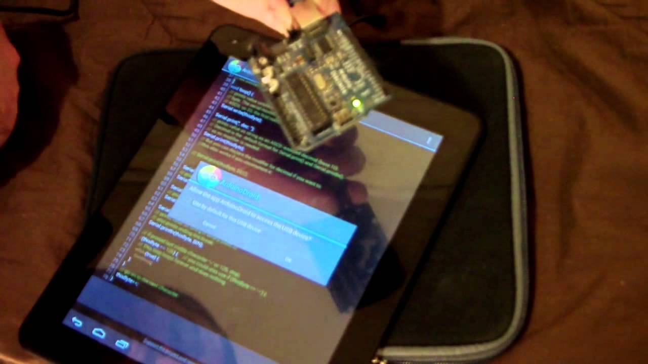 Arduino y tablets económicas con usb otg host youtube