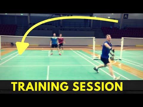 Badminton training: schlagtechnik: umgreifen (change of grip.
