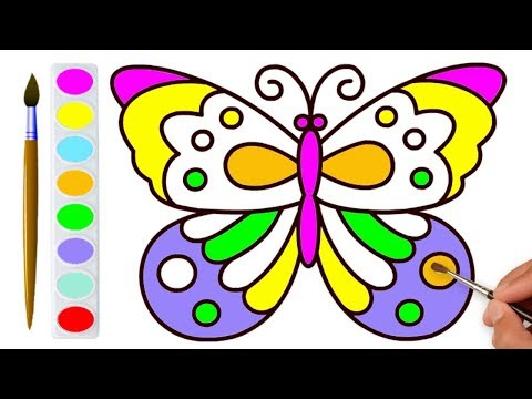 butterfly-coloring-pages-for-kids---drawing-and-coloring-butterfly-for-children