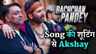 On Set Bachchan Pandey Larger Song Shooting Akshay Kumar With Ganesh Acharya