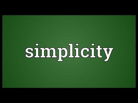 Simplicity Meaning