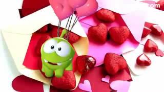 Ам ням валентинка. С днём святого Валентина. Видео открытки.