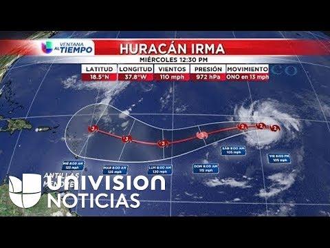 Pronóstico del tiempo: El huracán Irma se desplaza hacia el oeste con vientos de 120mph