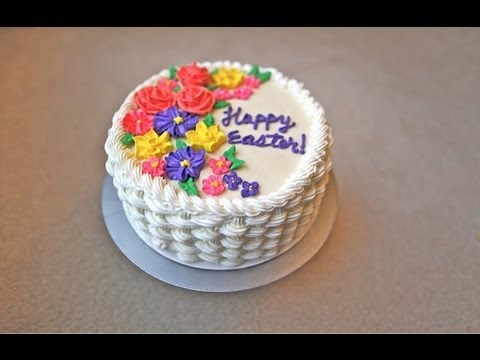 Basket Of Flowers Cake Ideas