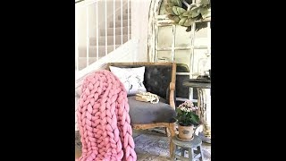HOW TO HAND KNIT A MERINO WOOL BLANKET, 2x2 RIBBING STITCH