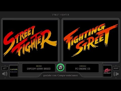 Street Fighter vs Fighting Street (Arcade vs Pc Engine Cd) Side by Side Comparison