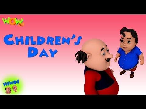 Children's Day- Motu Patlu in Hindi WITH ENGLISH, SPANISH & FRENCH SUBTITLES thumbnail