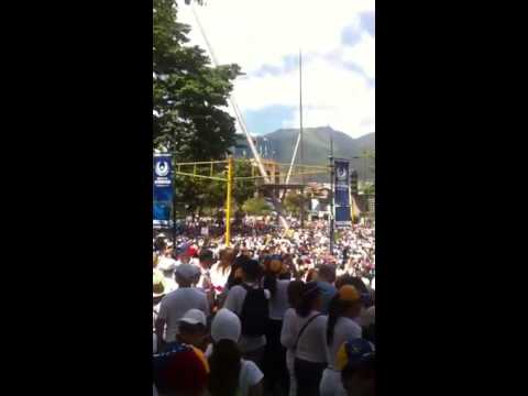 Anti-government protesters continue to march in Caracas