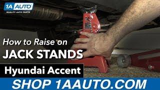 How to Raise on Jack Stands 2007 Hyundai Accent смотреть