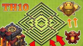 Clash of Clans - NEW Update TH10 Trophy BASE 2018! CoC Best Town hall 10 Trophy Base 2018