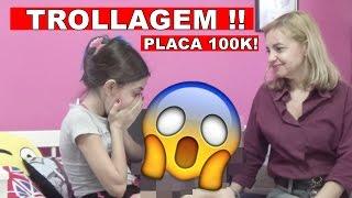 PLACA DE 100K! FUI TROLLADA!