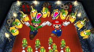 Mario Party 9 Minigames (2 Players) - Yoshi vs Koopa Troopa vs Mario vs Luigi