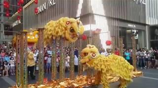 2019 CNY High pole Lion Dance performance by Kun Seng Keng @ Pavilion Kuala Lumpur  #馬來西亞吉隆坡關聖宮龍獅團