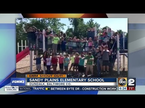 Sandy Plains Elementary School students give a Good Morning Maryland shout-out