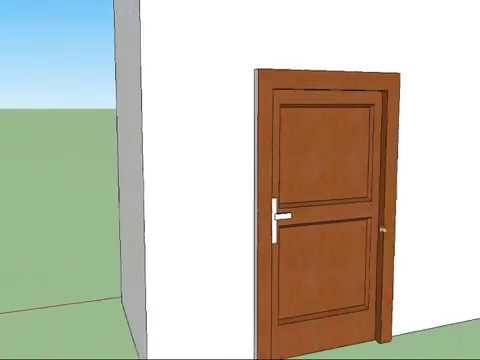 how to make a nice door in Google Sketchup 8 & how to make a nice door in Google Sketchup 8 - YouTube
