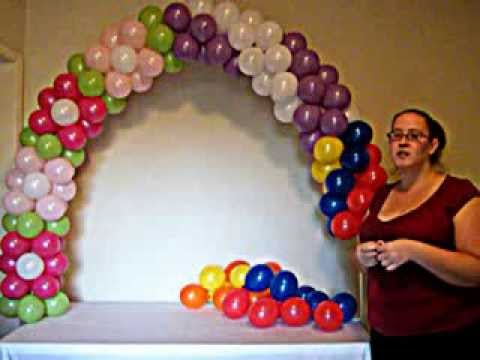 How to make a balloon arch youtube for Balloon decoration ideas youtube