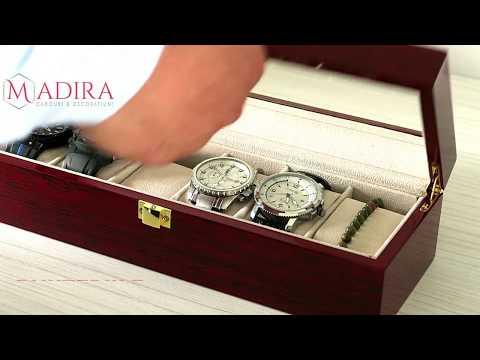 Cutie din lemn pentru depozitare 6 ceasuri
