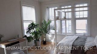 minimalistic studio apartment tour