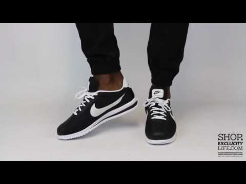 Nike Cortez Ultra Black White On feet Video at Exclucity