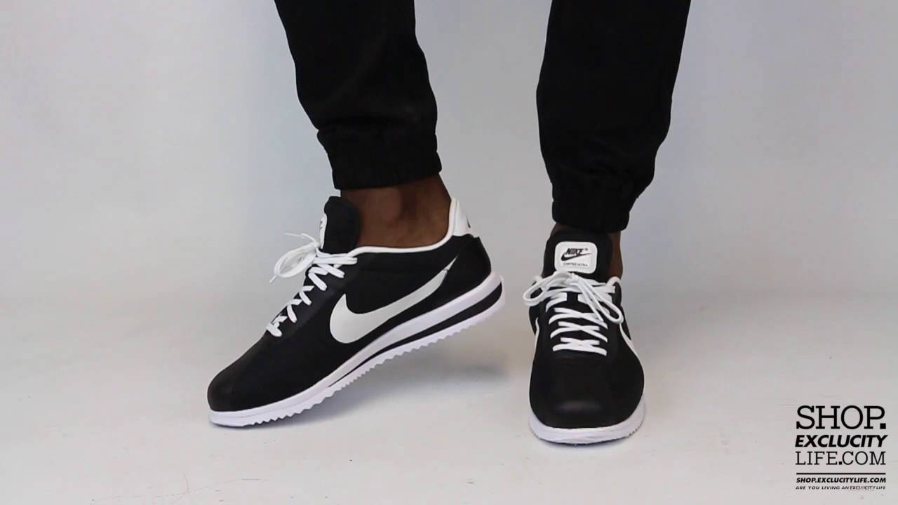 Nike Cortez Ultra Black White On feet