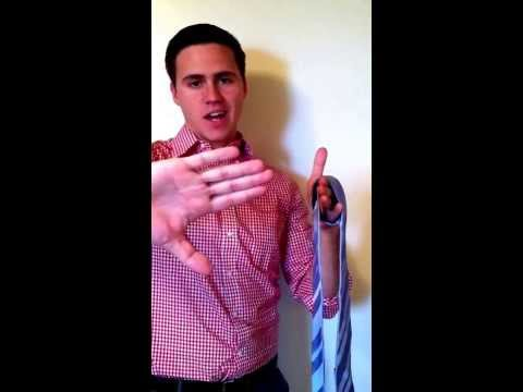 How to Tie a Tie in Five Seconds on Your Hand